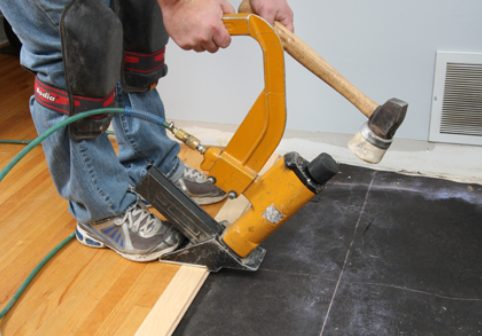 existing tongue-and-groove wood flooring